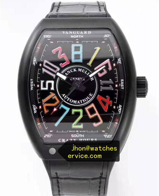 Multicolor Black Franck Muller Mens Collection Crazy Hours