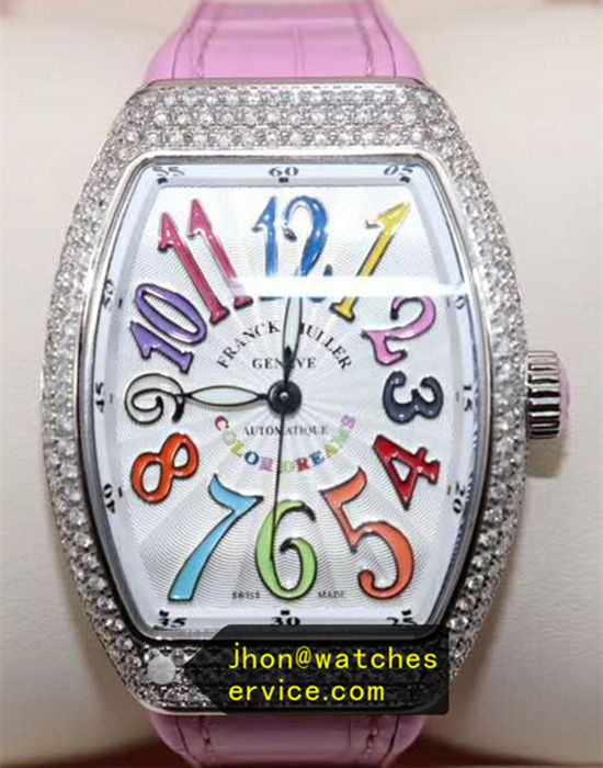 Pink Franck Muller Vangyard Color Dreams Lady Diamonds