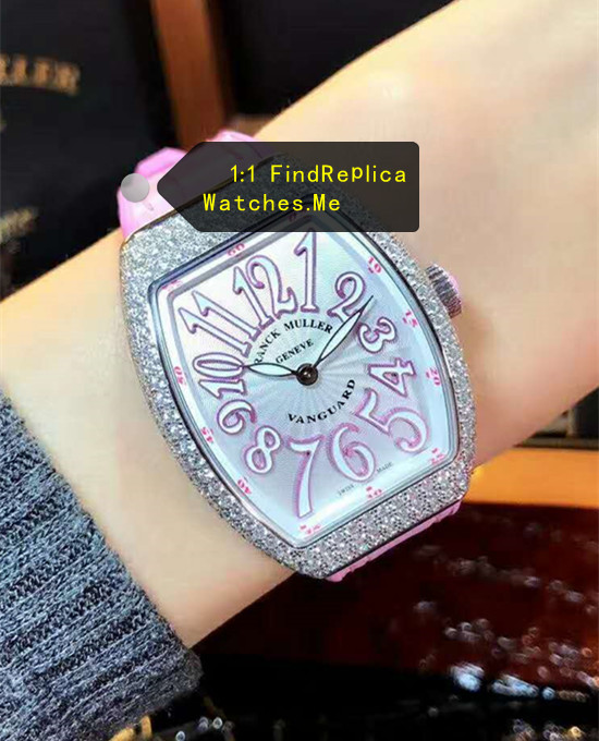 Purple Letter Ladies Collection Franck Muller V32-QZ replica watch