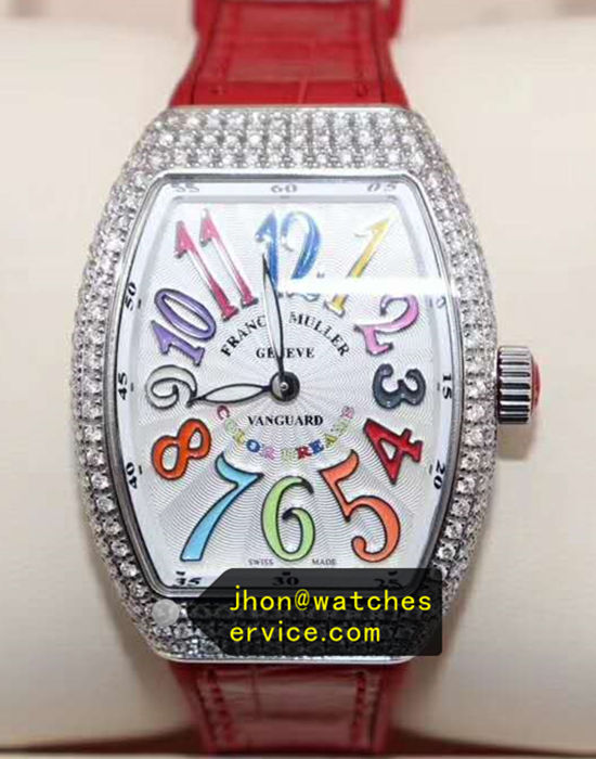 Red Franck Muller Vangyard Color Dreams Lady Diamonds