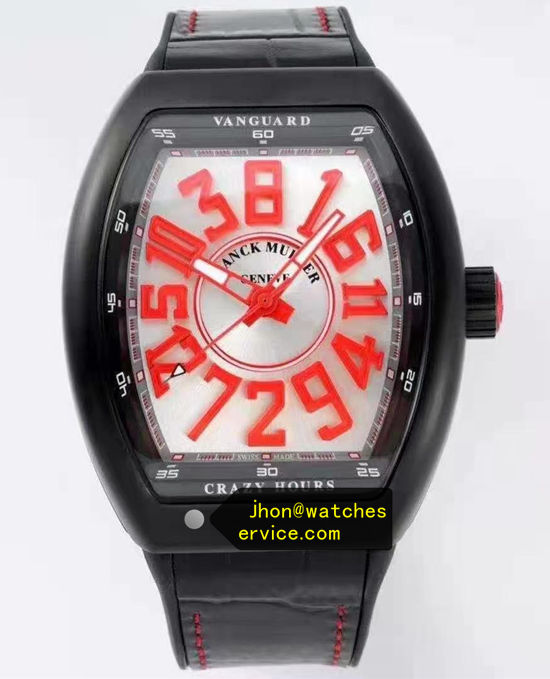 Red With White Franck Muller Mens Collection Crazy Hours