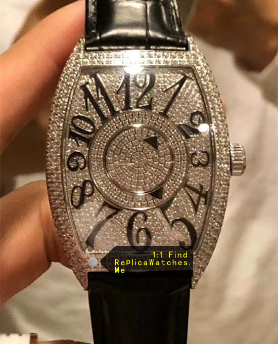 Franck Muller All Diamonds With Black Arabic Numerals