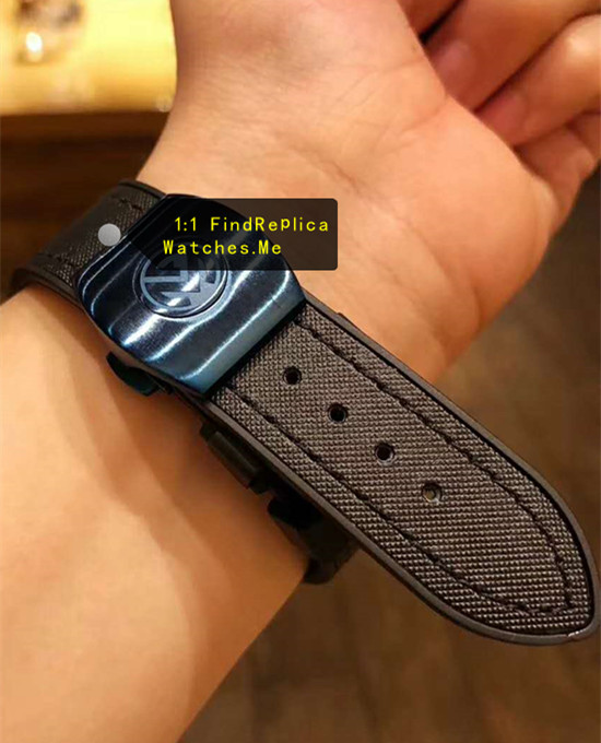 Replica Franck Muller Bluesea Black nylon fabric Strap