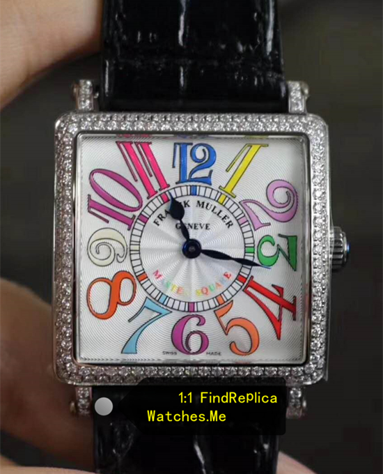 Franck Muller Master Square Colorful Numbers With Diamond Bezel
