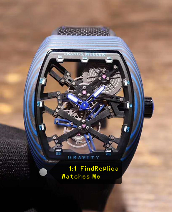 Franck Muller Mens Collection V45 All Blue Fiber Tourbillon Watch