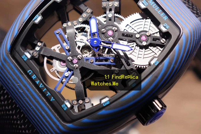 Blue Pointer with Hollow Tourbillon Face