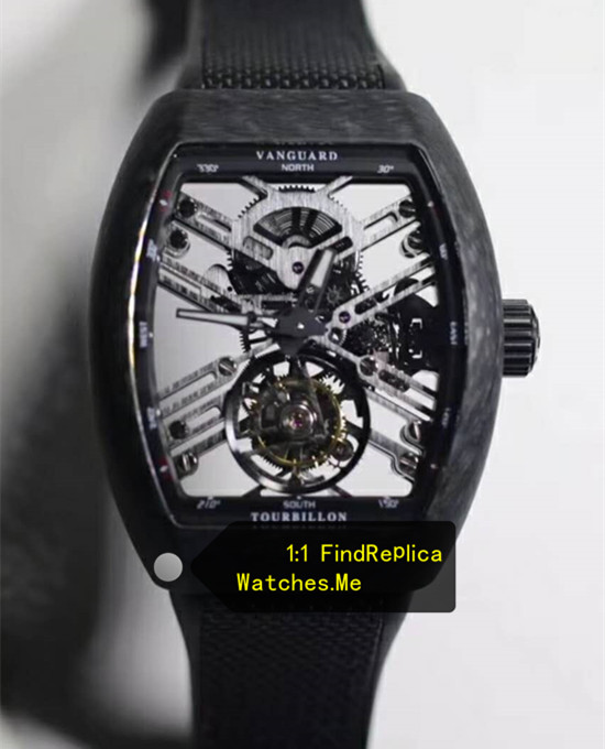 Franck Muller Mens Collection V45 Fiber Hollow Tourbillon