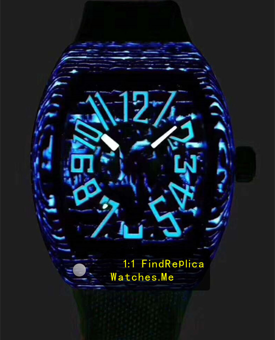 Replica Franck Muller Mens Collection V45 Super Blue Luminous Watch