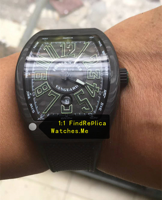 Replica Franck Muller Mens Collection V45 Super Green Luminous Watch