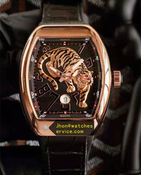 Rose Gold Tiger Black Franck Muller Vanguard
