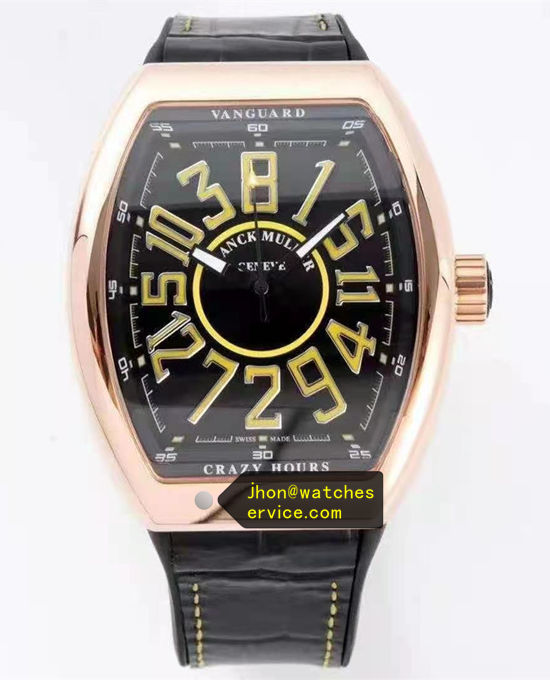 Rose Gold Yellow Franck Muller Mens Collection Crazy Hours