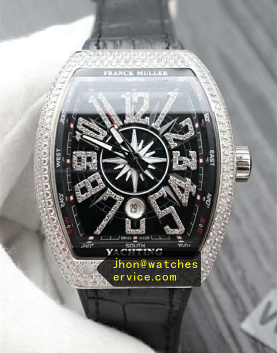 Silver Diamonds Bezel Franck Muller Vanguard V45
