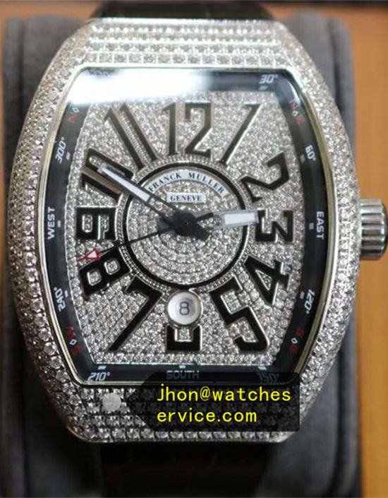 Silver Diamonds Franck Muller Vanguard V45