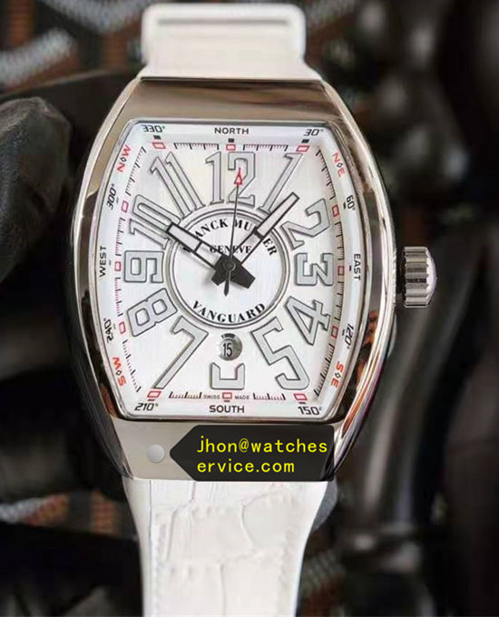 White Franck Muller Vanguard Steel