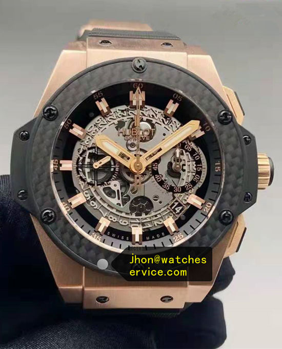 18k-Gold 48MM Fiber Bezel Hublot King-Power 701.OQ.0180.RX