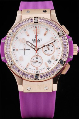 Hublot Big Bang Linen 41mm Purple