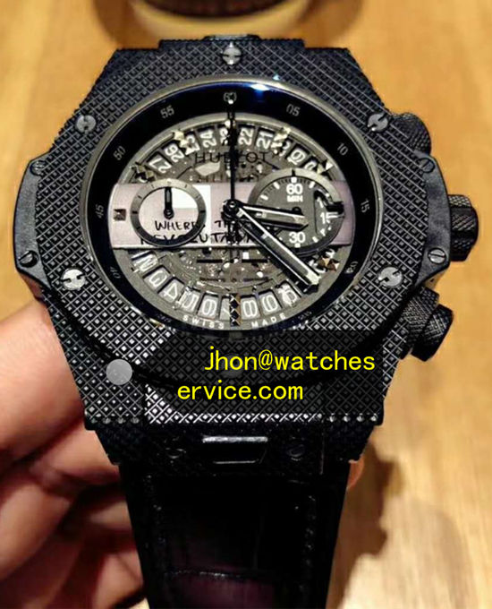 45MM Black Ceramics Hublot Big Bang Depeche