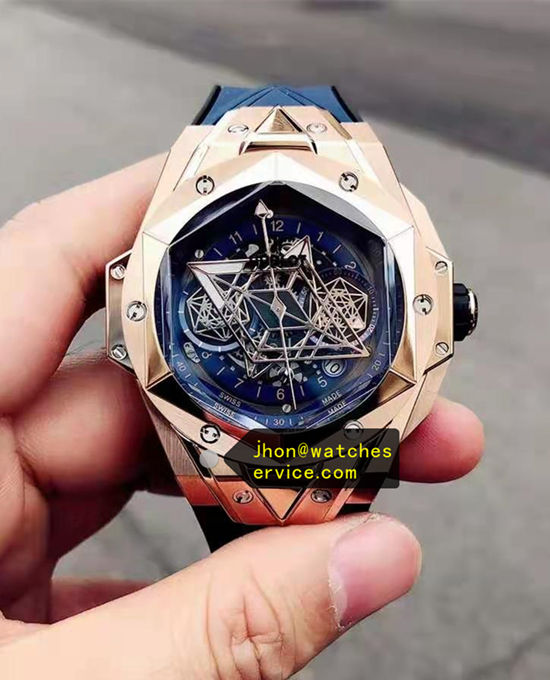45MM 18K-Gold Blue Hublot Sang Bleu II 418OX5108RXMXM20