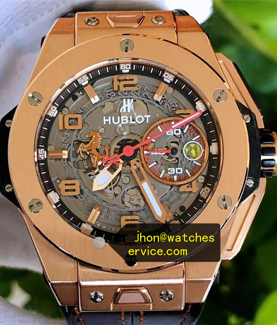 45MM Hublot Big Bang Ferrari 18k-King-Gold