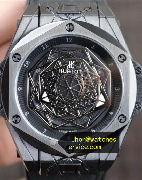 Black Ceramics Hublot Sang Bleu 45MM MXM18