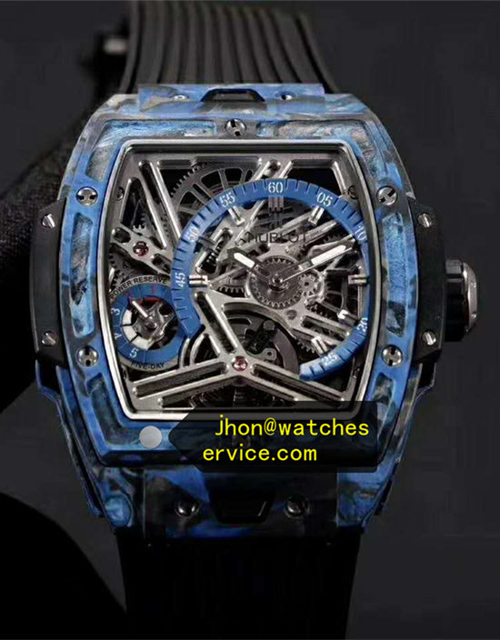 Blue Carbon Fiber Barrel Hublot Spirit of Big Bang