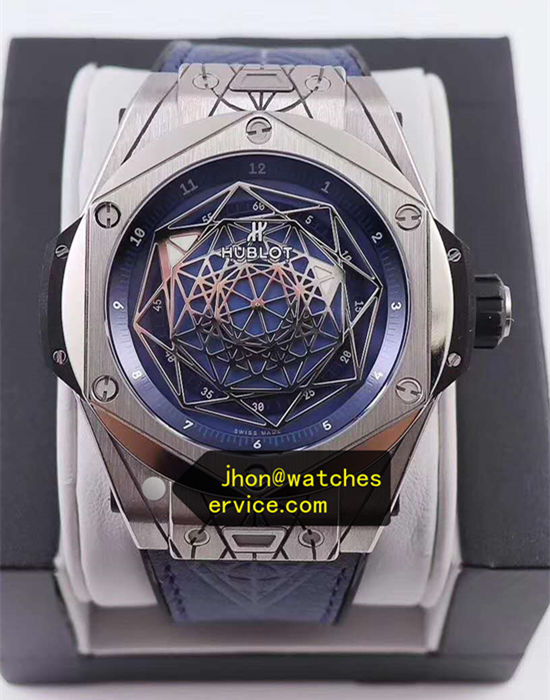 Blue Hublot Sang Bleu 45MM Polishing Titanium