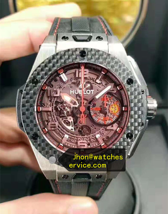 Carbon Fiber Red Glass 45MM Hublot Big Bang Ferrari