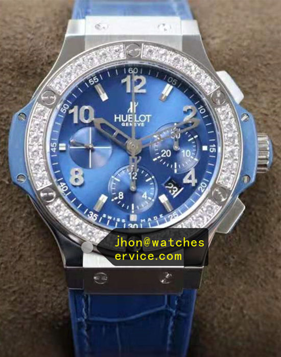 Diamonds Hublot Big-Bang Blue Titanium