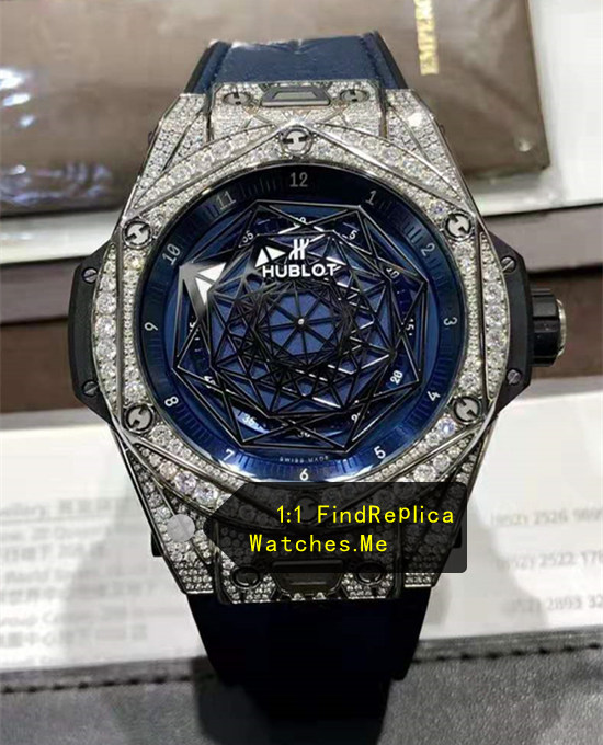 Hublot Big Bang Sang Bleu 45MM Diamonds Blue Watch