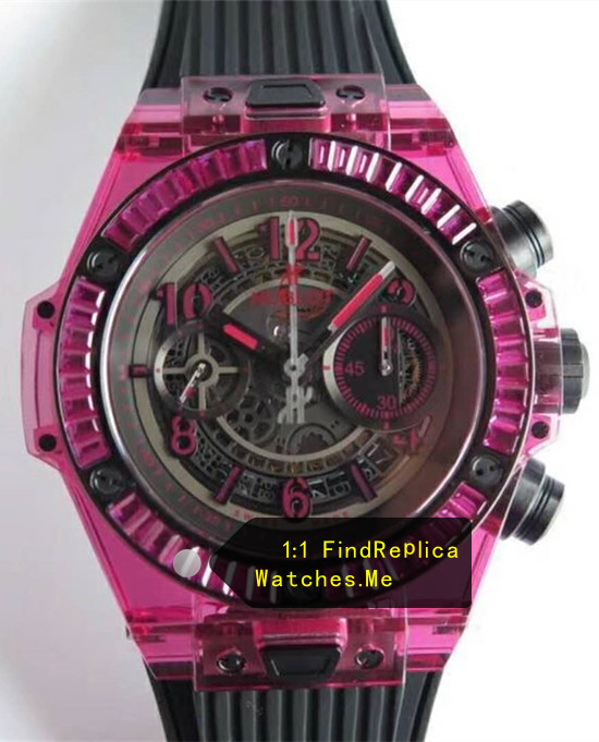 Hublot Big Bang Unico 45MM Purple Thread Transparent Bezel Watch