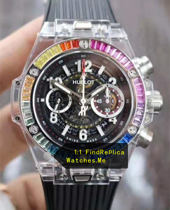 Hublot Big Bang Unico 45MM Rainbow Transparent Bezel Watch