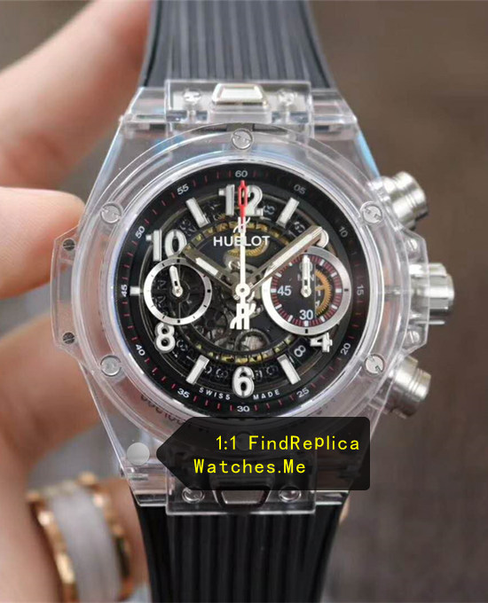 Hublot Big Bang Unico 45MM Transparent Black Face Watch