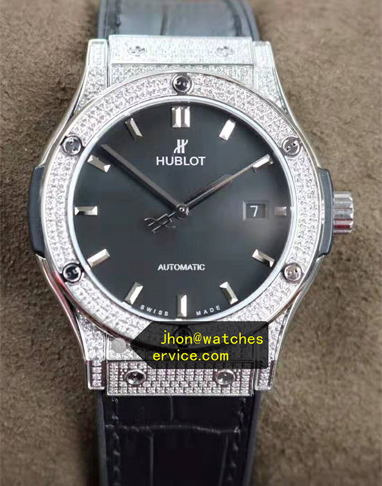 Hublot Classic Fusion Diamond Bezel Black Face