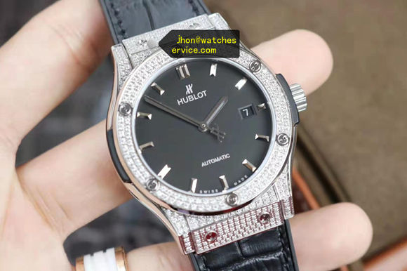 Hublot Classic Fusion Diamond Bezel Black Face replica watch