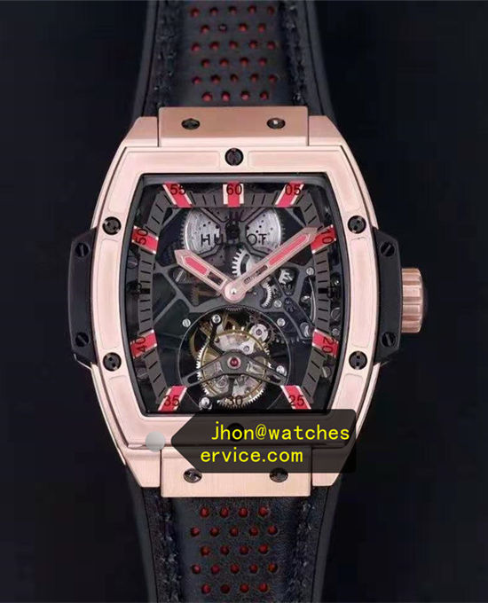 King Gold Red Time-Scale Hublot Spirit of Big Bang Tourbillon replica watch