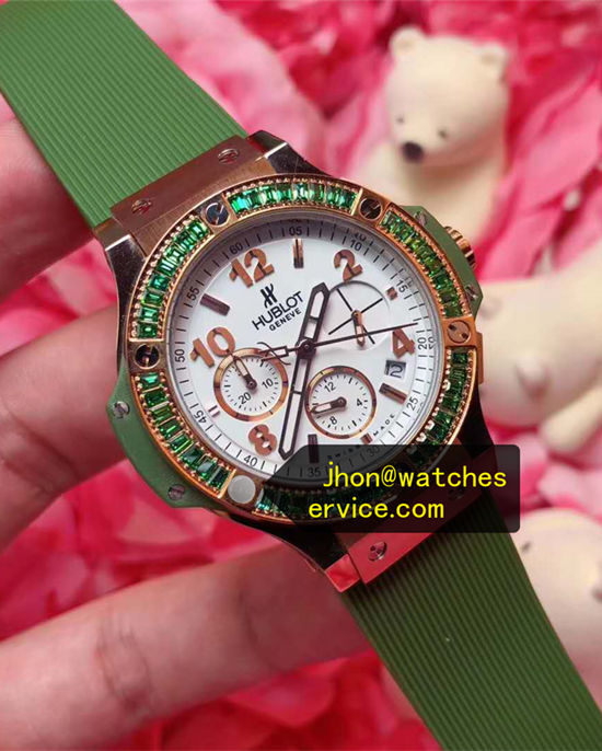 Olive Green Bezel Hublot Big Bang Tutti Frutti