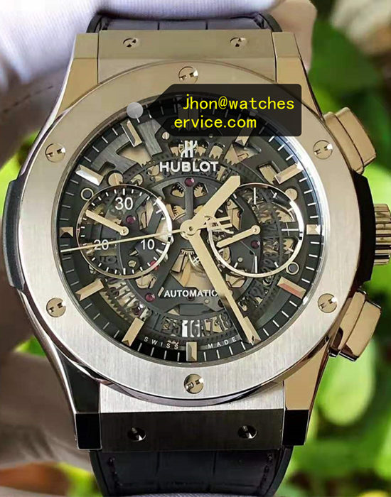 Polished Titanium 45MM Hublot Classic fusion 525.NX.0170.LR