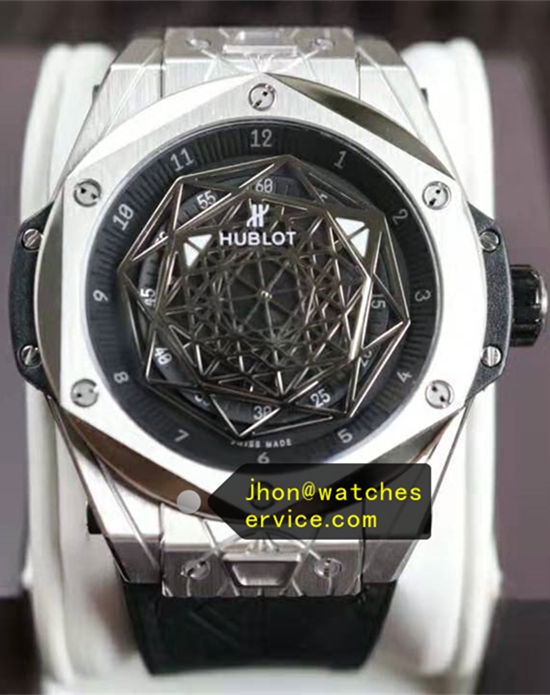 Polished Titanium Hublot Sang Bleu 45MM