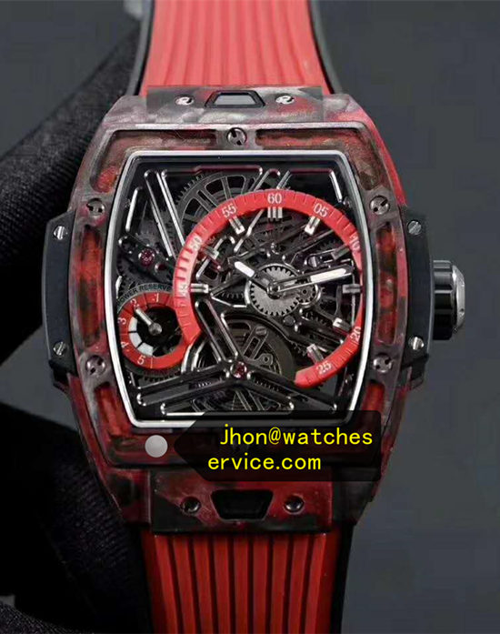 Red Carbon Fiber Barrel Hublot Spirit of Big Bang