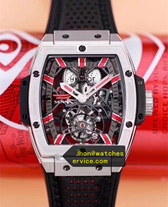 Red Time-Scale Titanium Hublot Spirit of Big Bang Tourbillon