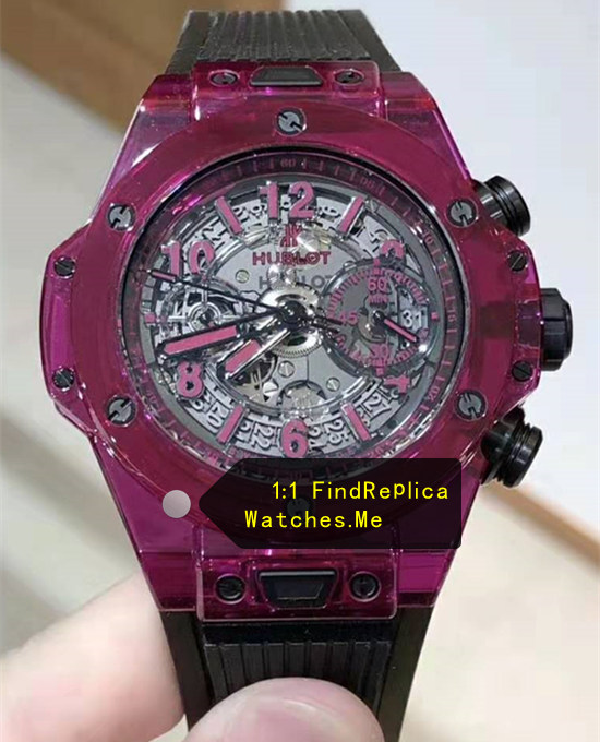 Hublot Big Bang Unico 45MM Dark Purple Transparent Watch