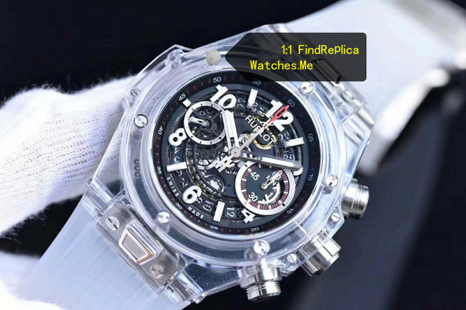 Replica Hublot Big Bang Unico 45MM Transparent Watch