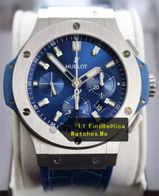 Hublot Blue Big Bang Satin steel 44MM Watch