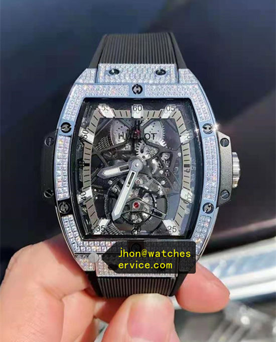 Titanium Full Diamonds Hublot Spirit of Big Bang Tourbillon