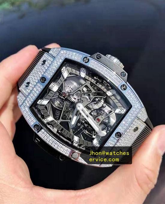 Titanium Full Diamonds Hublot Spirit of Big Bang Tourbillon replica watch