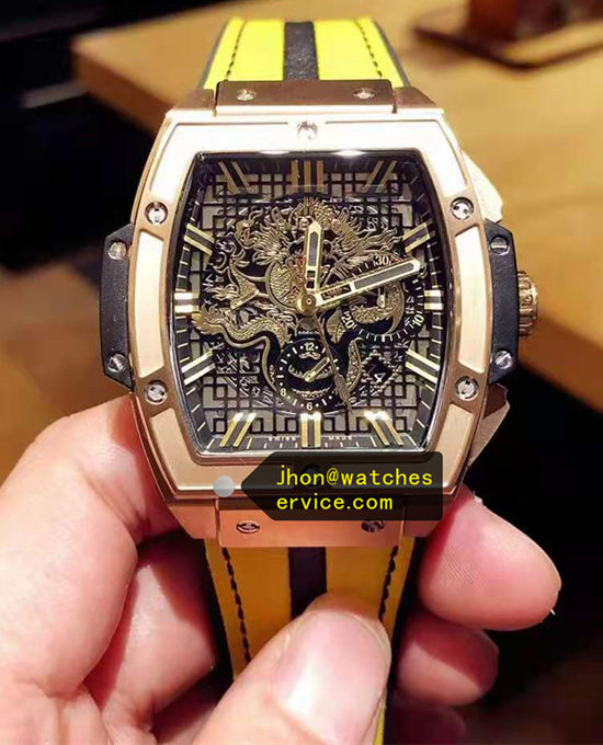 Yellow Hublot Spirit Big Bang Bruce Lee 18-King-Gold