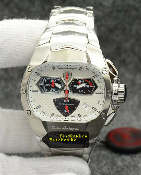 Lamborghini Watch White Dail Stainless Steel 8059