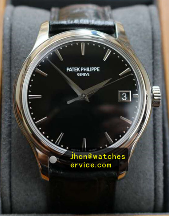 38MM Patek Philippe Calatrava 5296G-010 Black Face