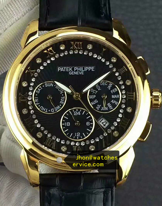 39MM Patek Philippe Complication Polished Gold replica watch