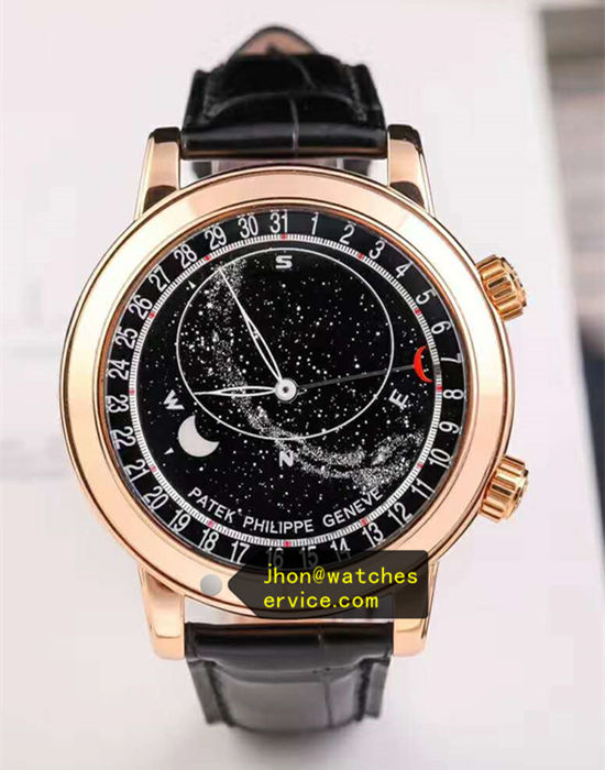 Black SKY MOON Patek Philippe 6102R-001 44MM 18k-Gold